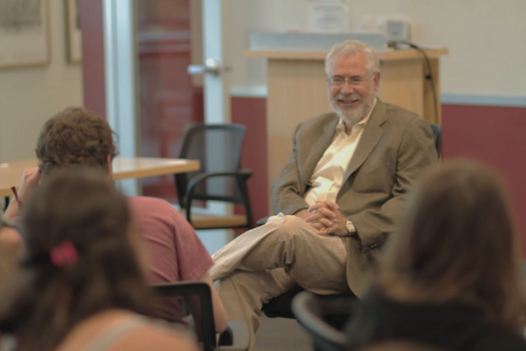 Photo - Steve Blank with students