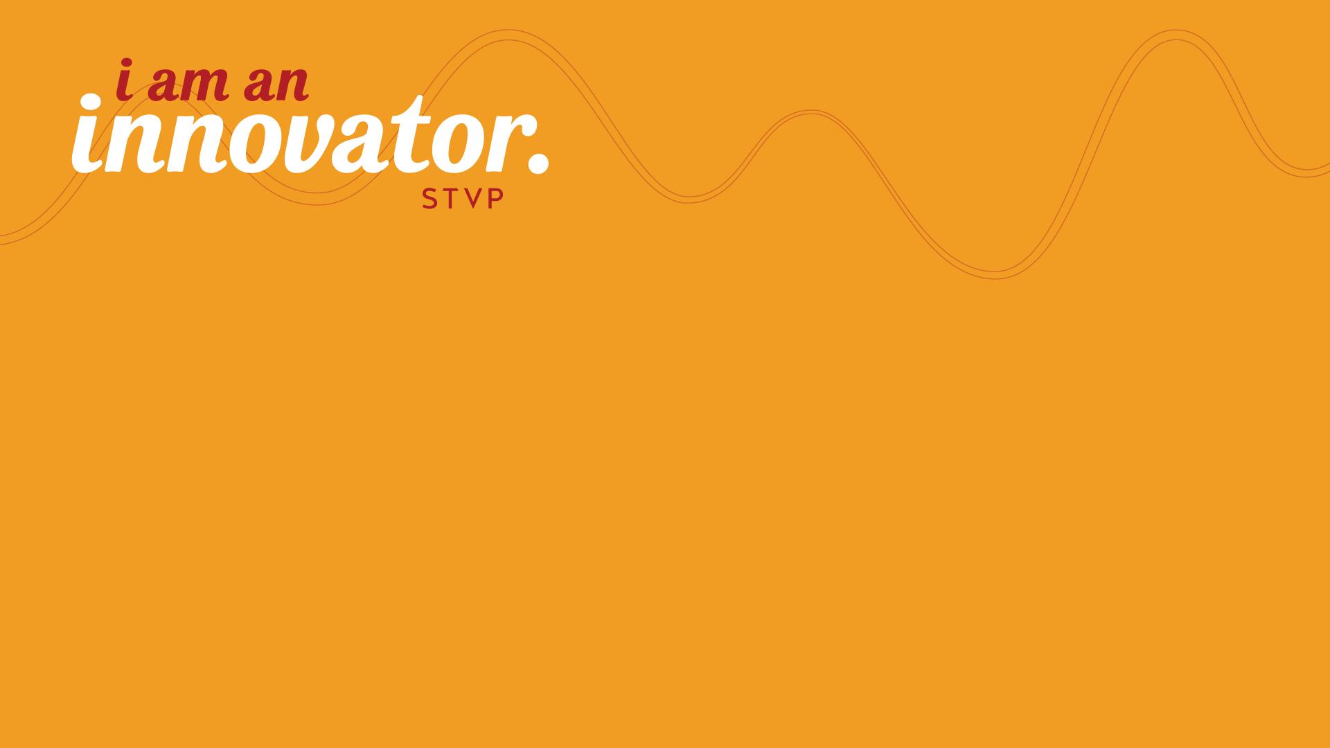 I am an innovator Zoom background